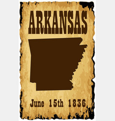 Arkansas admission to union date vector