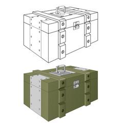 Army ammunition box green military box and vector