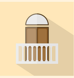 balcony icon set of great flat icons with style vector image