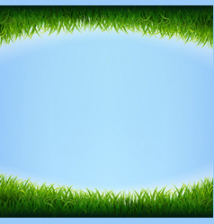 blue sky poster with grass vector image
