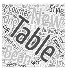 Boardroom tables Word Cloud Concept vector