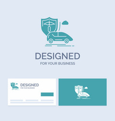 Car hand insurance transport safety business logo vector