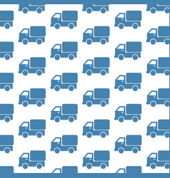 car truck pattern background vector image