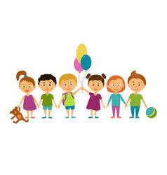 Children cartoon characters vector