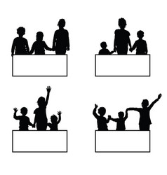 children with card set vector image