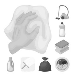 cleaning and maid monochrome icons in set vector image