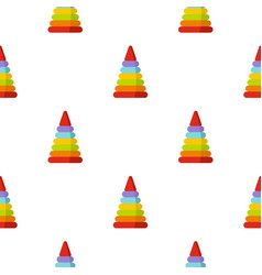 Colorful toy pyramid pattern seamless vector