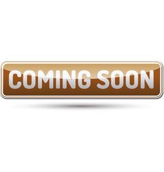 Coming soon button vector