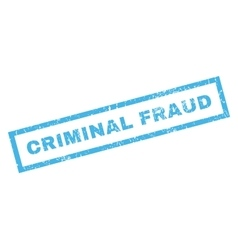 Criminal Fraud Rubber Stamp vector