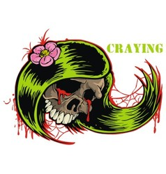 Crying skull vector