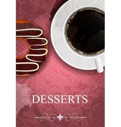 Dessert menu in grunge vintage style vector