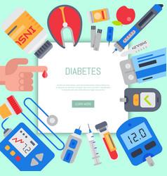 Diabetes mellitus care web banner vector