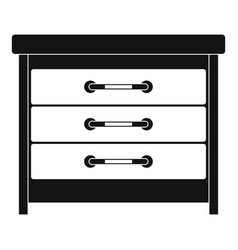 Dresser icon simple style vector