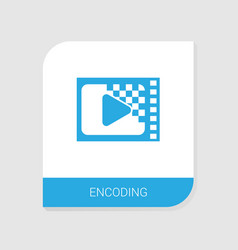 Editable filled encoding icon from video streaming vector