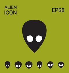 eextraterrestrial alien icon vector image