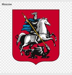 Emblem moscow vector