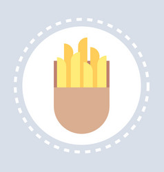 fastfood sign french fries icon unhealthy food vector image