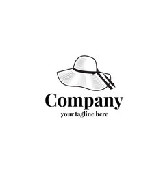 female hat logo template vector image