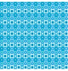 geometrical blue seamless pattern vector image