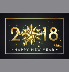 gold 2018 christmas or new year celebration vector image
