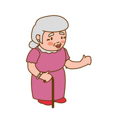 Grandmother elder person vector