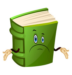 Green book is confused on white background vector