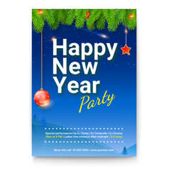 holiday poster for happy new year events design vector image