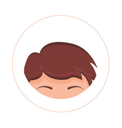 human hair forehead and eyebrows design vector image