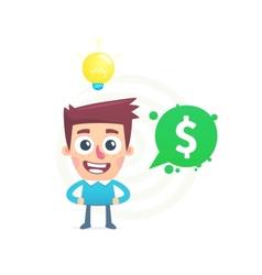 Idea for business vector