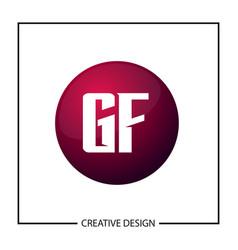 initial gf letter logo template design vector image