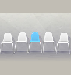 Job recruiting concept banner vacant chairs near vector