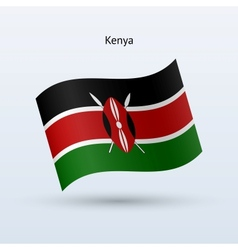 Kenya flag waving form vector image