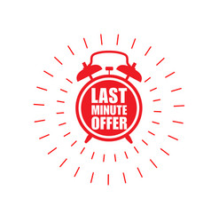 last minute offer sticker - sale label with vector image