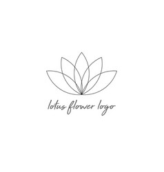 line lotus flower or flower life isolated vector image