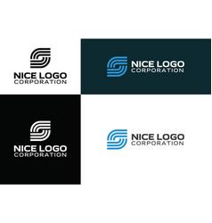Logo internet service provider vector