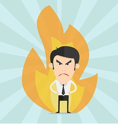 Mad cartoon man vector image