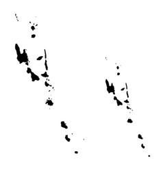 Map vanuatu and port vila country and capital vector