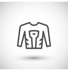 Motorcycle shirt line icon vector image
