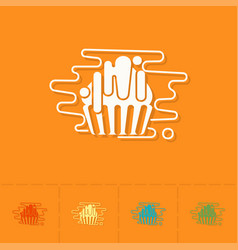 Muffin modern flat icon vector