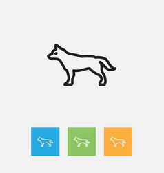 Of zoo symbol on hound outline vector