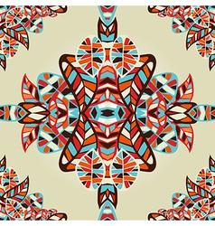 Optic effect geometric leaf pattern vector