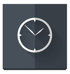 paper flat icon with a shadow clock vector image