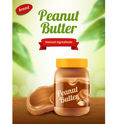 Peanut butter advertising creamy healthy sweet vector