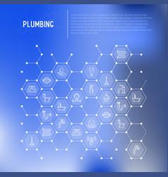 Plumbing concept in honeycombs vector