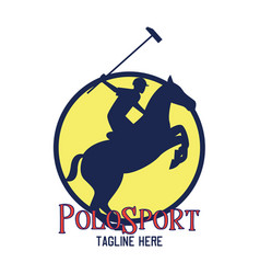 Polo sport logo with text space for your slogan vector