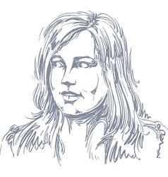 Portrait of attractive woman of good-lookin vector