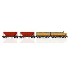 Railway train 06 vector