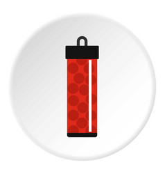 red pack with paintball bullets icon circle vector image