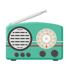 retro analog radio receiver vintage electronic vector image