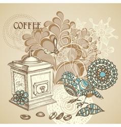 Retro coffee background vector
